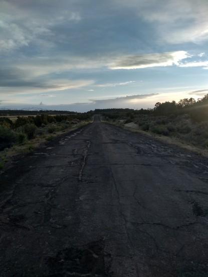 empty road landscape sunset