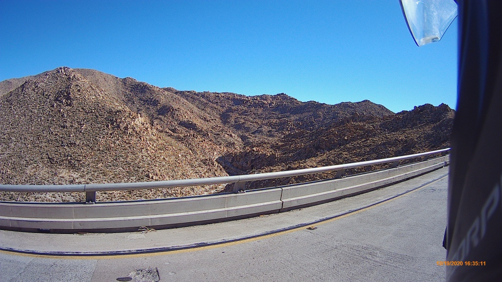 mountains boulders highway